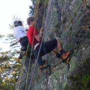 Climbing at rocher du plan - Stage Mont-Blanc - Compagnie des guides de Saint-Gervais Mont-Blanc