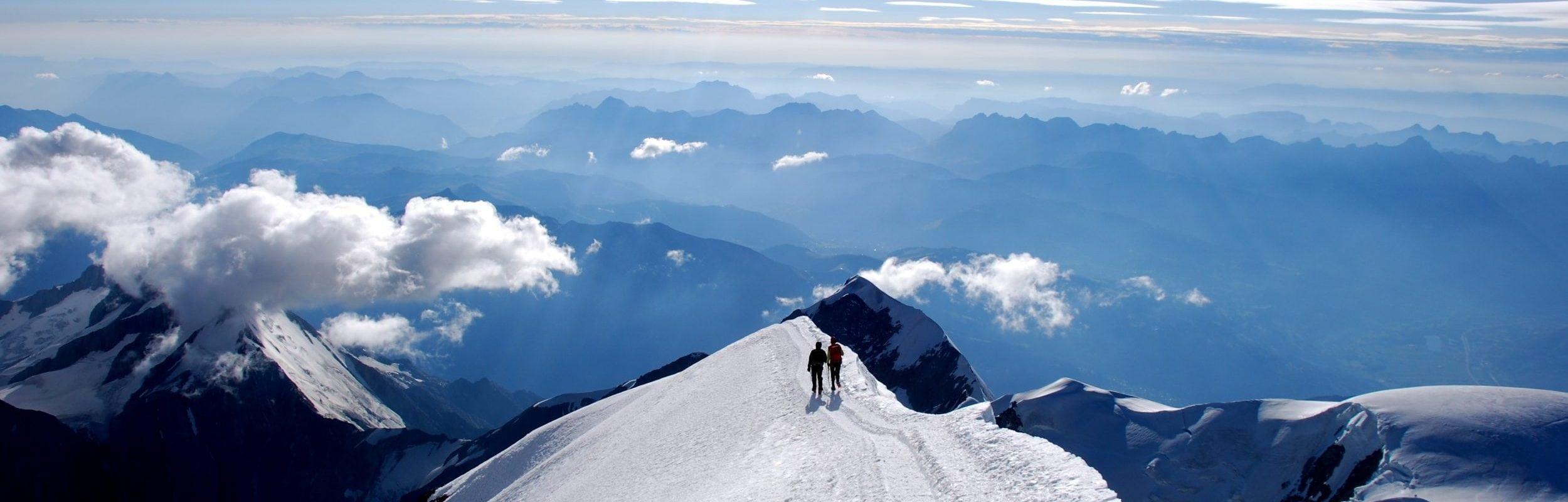 Sommet du Mont-Blanc summit - Compagnie des guides de Saint-Gervais