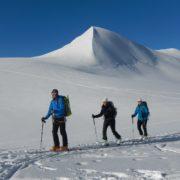 ski de randonnée avec un guide