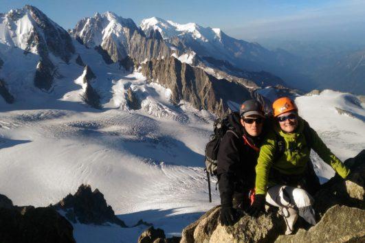 alpinisme débutant avec un guide