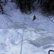stage cascade de glace aux Contamines