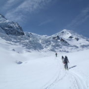 Passage de la jonction en ski de rando