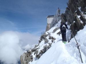 Le refuge des Grands Mulets - mont blanc à ski