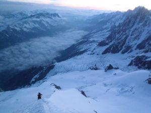 L'arête nord du Dôme du Goûter - mont blanc à ski