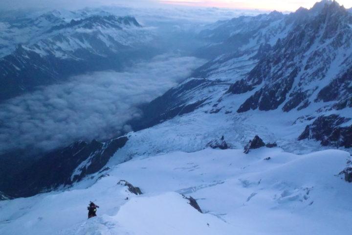 L'arête nord du Dôme du Goûter