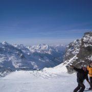 Grandiosité Raid à ski au Mont-Rose