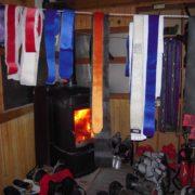 séchage des peaux Raid à ski au Mont-Rose