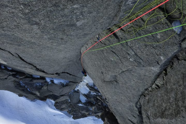 première longueur dans le bastion de la gabarou-silvy