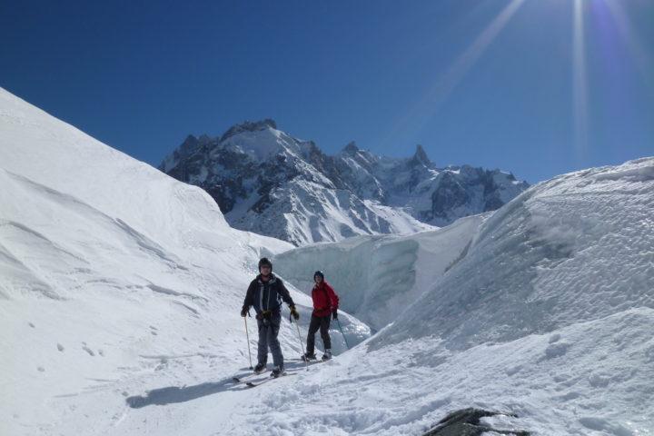 les murs de glace bédière de la vallée Blanche