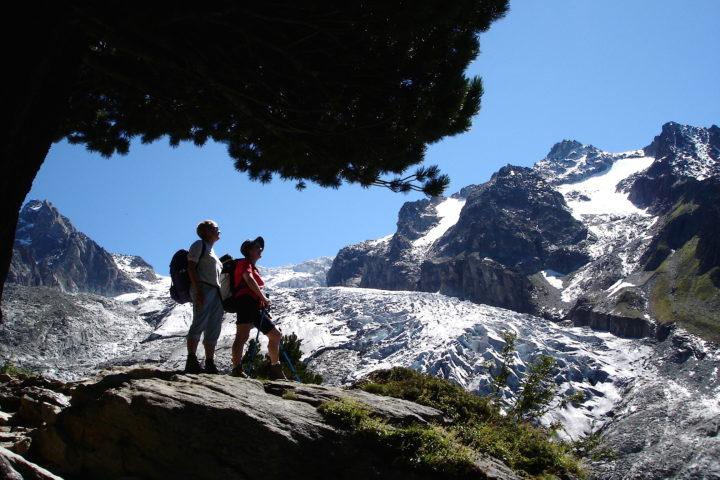 Tour du Mont-Blanc fenêtre d'Arpette