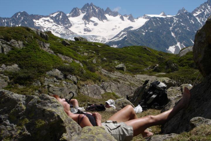 Sieste repos tour du mont-Blanc