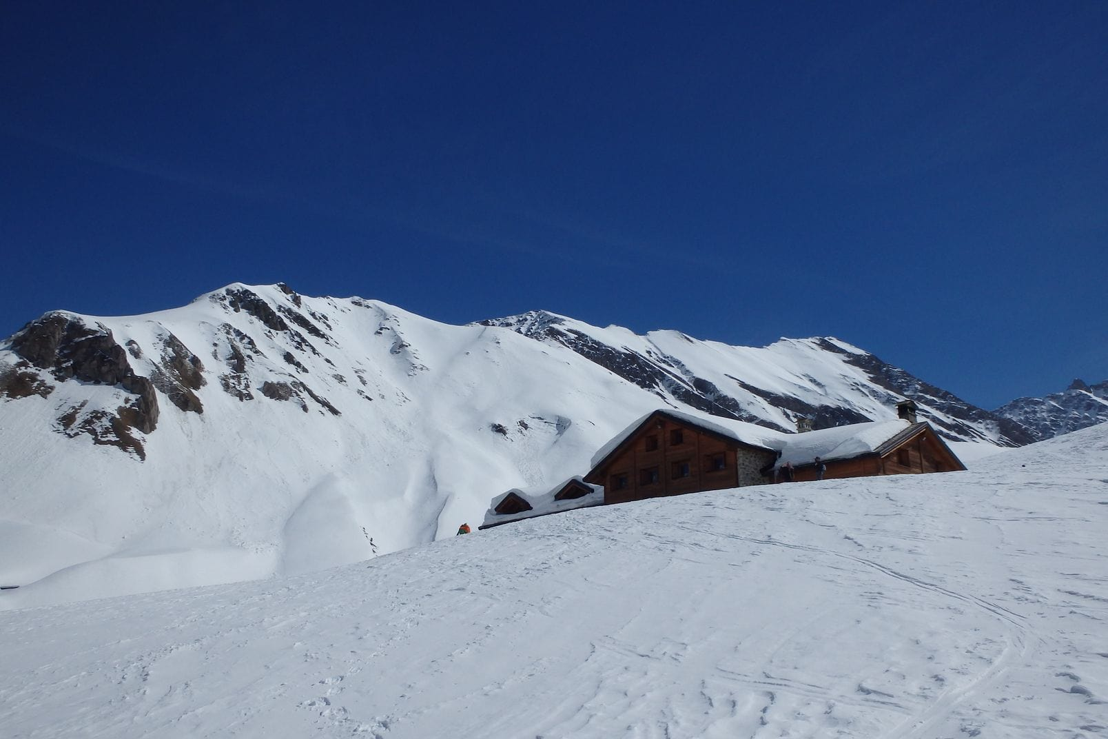 Ski de randonnée refuge Bonatti
