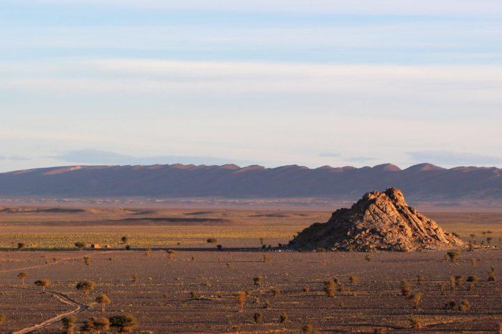 Premier contact avec le désert