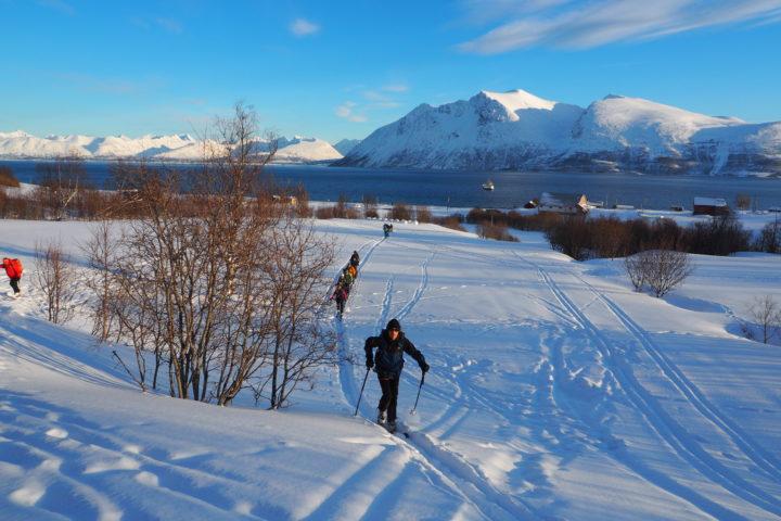 départ vers Rund-fjellet ski de rando