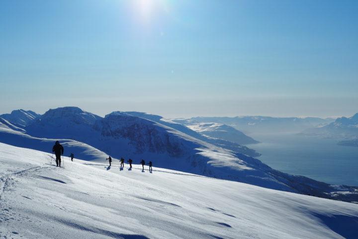 ski de randonné sur l'île d'Uloya