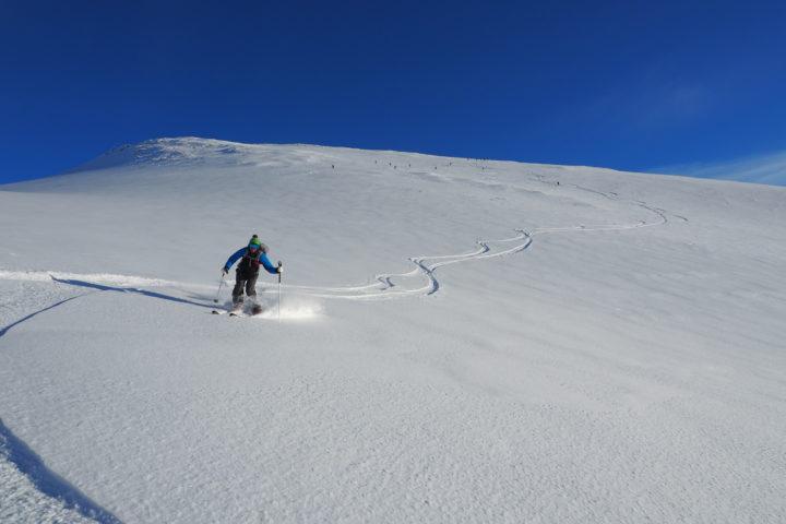 descente à ski de Blatinden