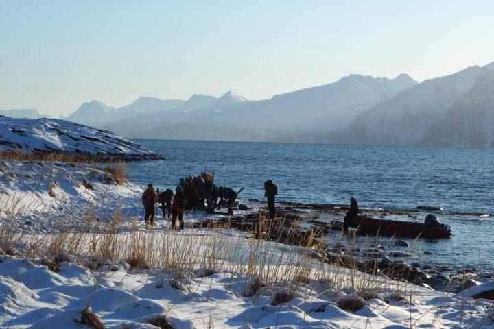 récupération sur la plage avant de regagner le Polaris