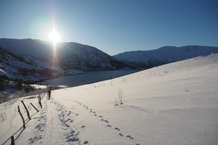 départ en ski de randonné de l'Isfjorden