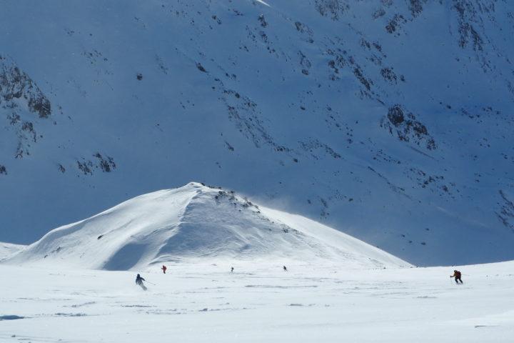ski dans la tempête Norvègienne