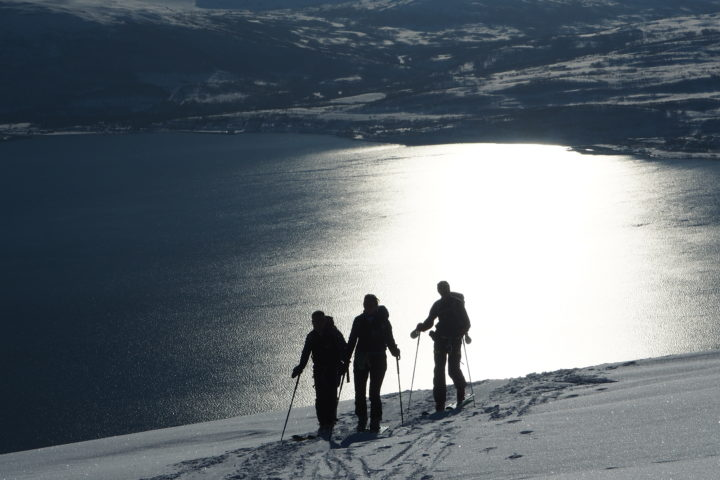 ambiance du ski de randonnée en Norvège