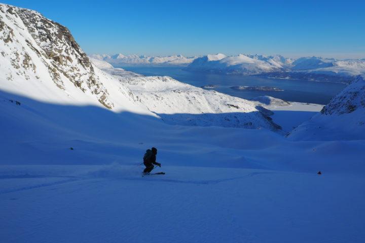 ski sur le glacier du Nordfjellet