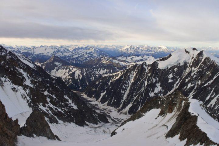 Le glacier de Miage déjà loin
