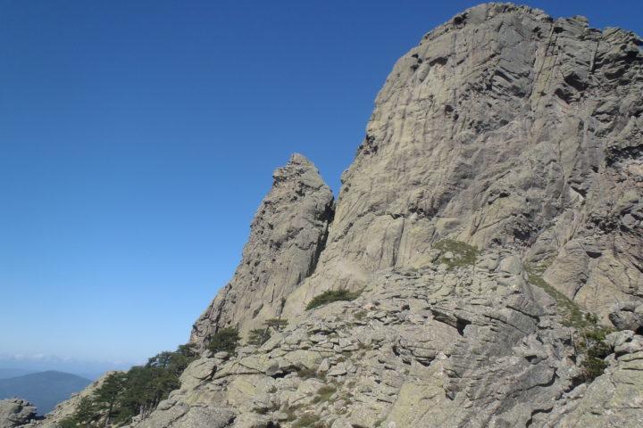 arête de Zonza au dessus du col de Bavella