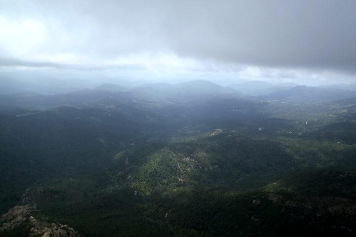 le temps peut vite changer en Corse!