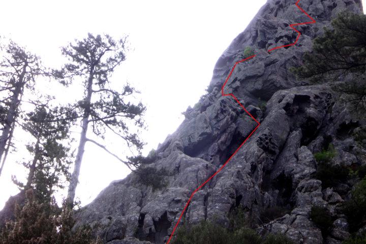 bavella punta caletta itinéraire topo