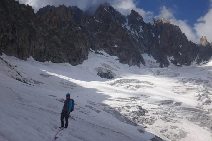 enfin sur le glacier de Talèfre