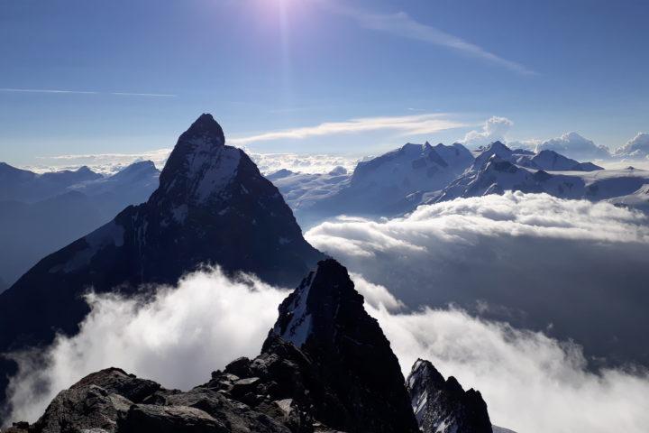 Cervin et Mont Rose vue de la Dent d'Herens