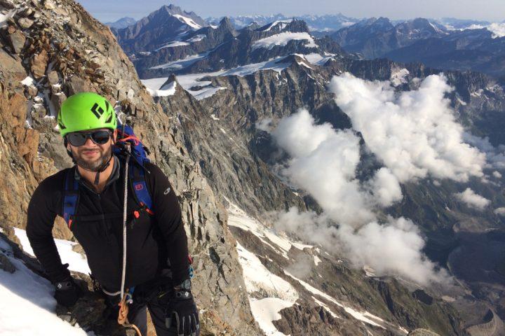 Thomas content Risotto à Alagna Cresta Signal Mont-Rose