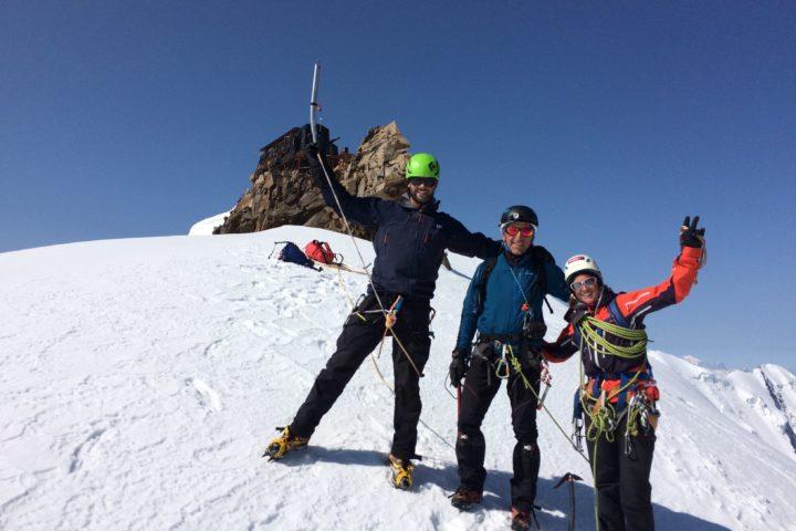 Une bonne équipe de vainqueurs Risotto à Alagna Cresta Signal Mont-Rose