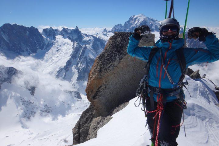 sommet des Droites, quarantième 4000 m en 9 mois pour Cat!