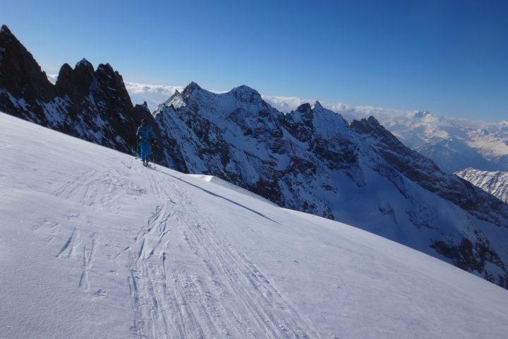 dernier mètre avant de quitter les skis