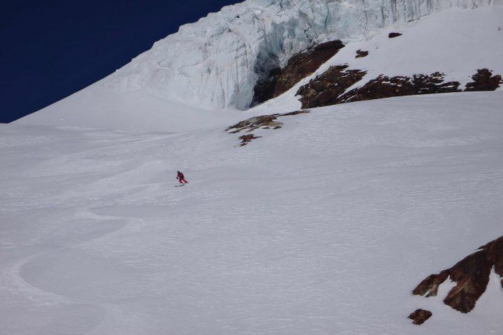 ski sous les séracs