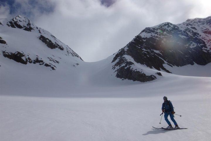 descente à ski du Grünhornlucke