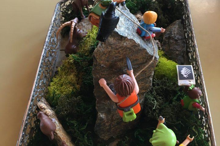 Playmobils alpinistes de la Mischabelhütte