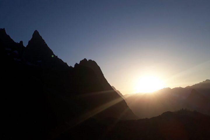 Lever de soleil sur le val Véni