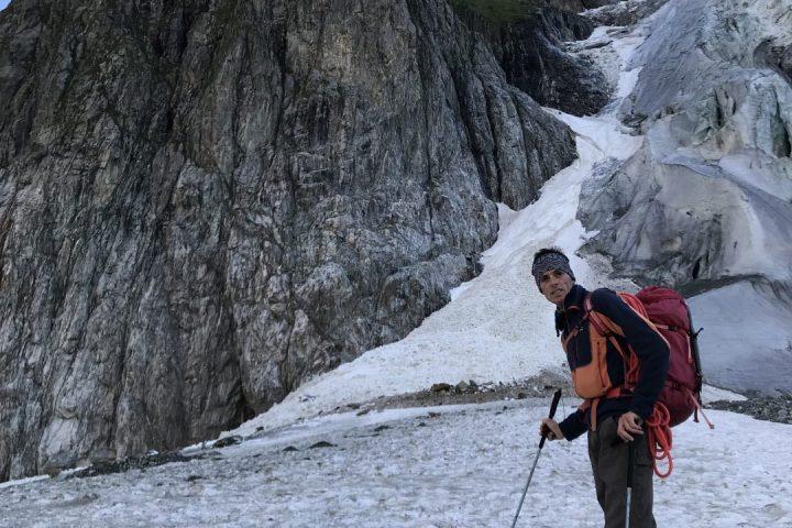 Au pied du glacier du Mont Blanc