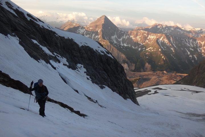 Remontée du glacier du Châtelet