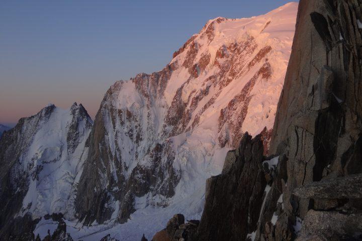 levé de soleil sur le Mont-Blanc
