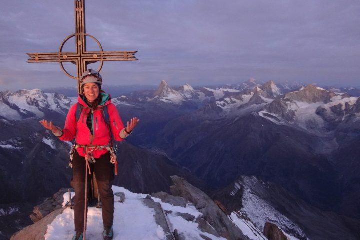 sommet du Täschhorn, 60ème 4000m pour Cat