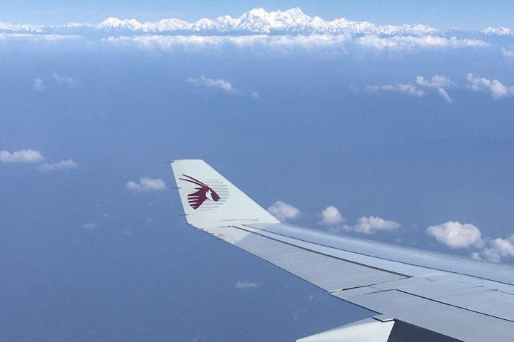Découverte de la chaine Himalayenne ; ici le Manaslu!