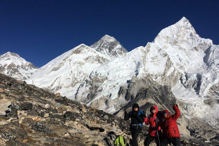 Everest et Nuptse depuis les pentes du Kala Pattar