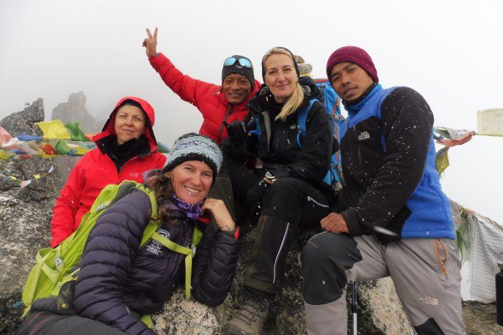 Au sommet avec Bishal et Bagdhan
