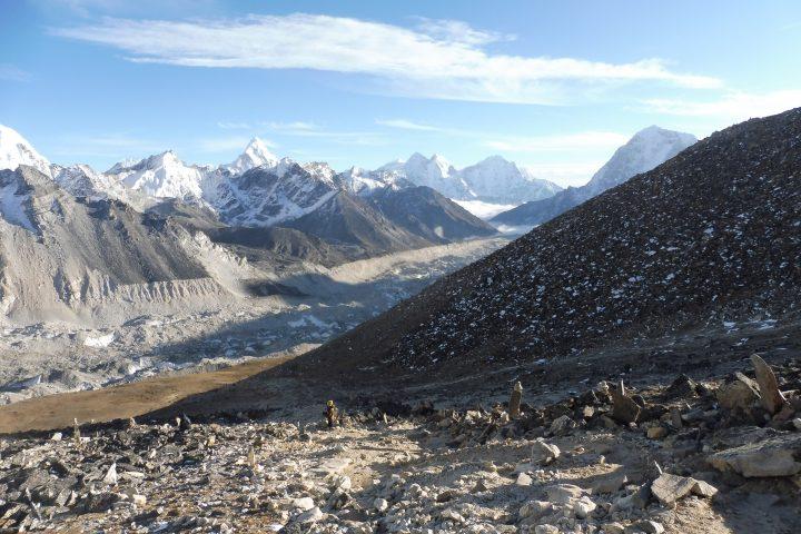 Vue du Kala Pattar : Ama Dablam, Kyashar, Kusum Kanguru, Taboche