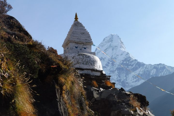 Stupa devant l'Ama Dablam