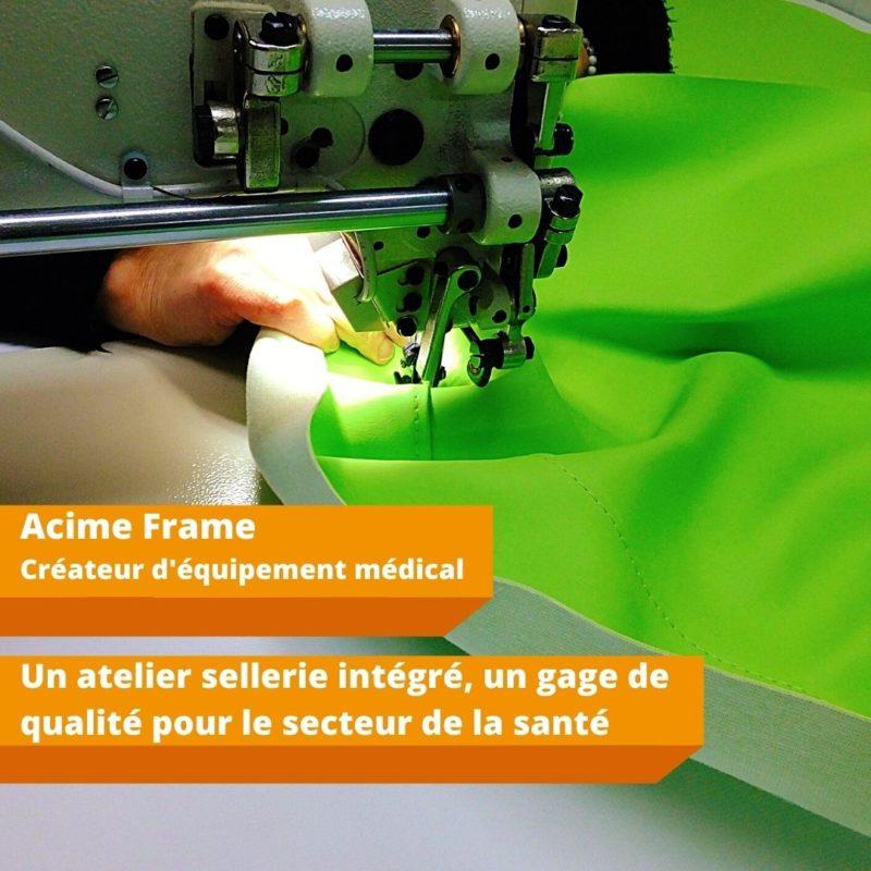 Acime Frame Sellerie Medicale Made in France Production Locale Sante Design Brancards