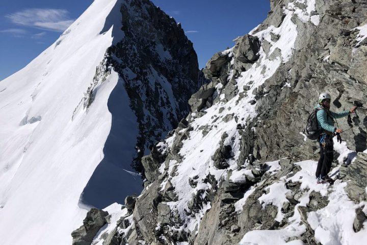 Fin de l'arête rocheuse du Weisshorn